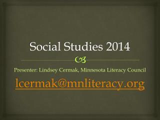 Social Studies 2014