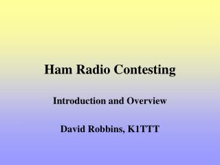 Ham Radio Contesting
