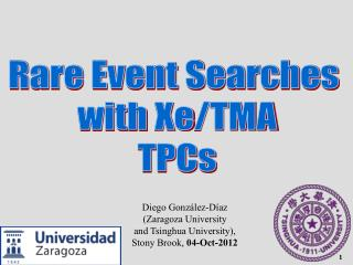 Rare Event Searches  with  Xe /TMA TPCs