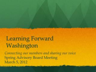 Learning Forward Washington