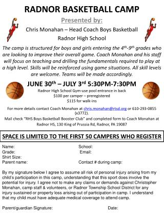 RADNOR BASKETBALL CAMP