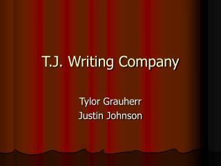 T.J. Writing Company