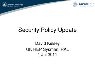 Security Policy Update