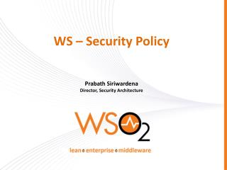 WS – Security Policy