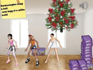 Karácsonykor nagy a buli  nem fogy el a  milka  csoki