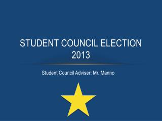 Student council election 2013