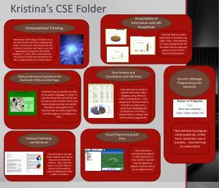Kristina's CSE Folder