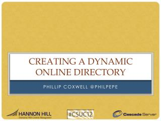 Creating a Dynamic Online Directory