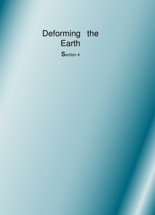 Deforming 