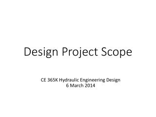 Design Project Scope