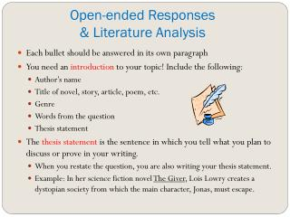 Open-ended Responses & Literature Analysis