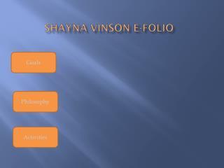 Shayna  Vinson E-FOLIO
