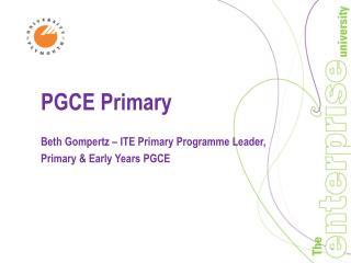 PGCE Primary