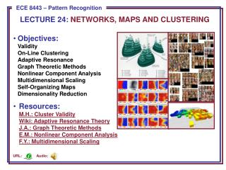 LECTURE  24:  NETWORKS, MAPS AND CLUSTERING