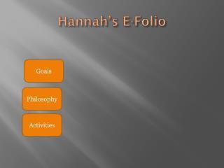 Hannah's E-Folio