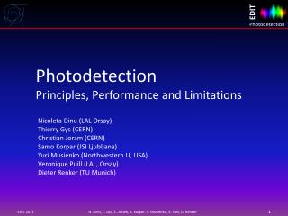 Photodetection  Principles, Performance and Limitations