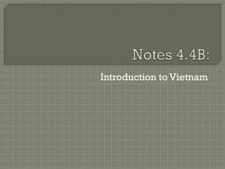 Notes 4.4B: