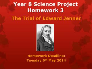 Year 8 Science Project  H omework 3