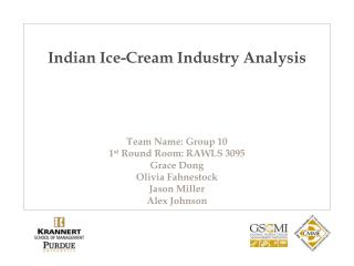 Indian Ice-Cream Industry Analysis