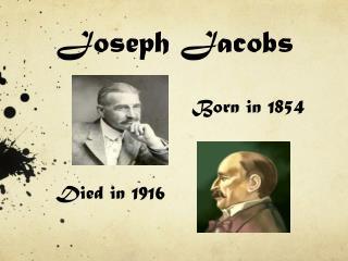 Joseph  Jacobs