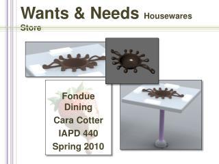 Wants & Needs  Housewares Store