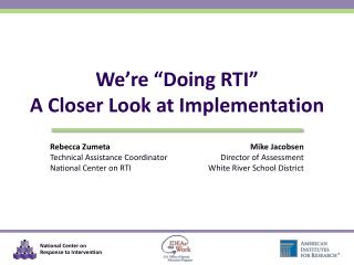 "We're ""Doing RTI"" A Closer Look at Implementation"