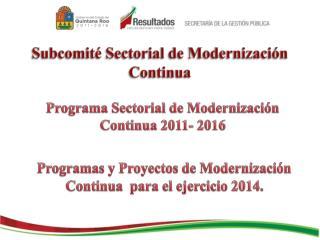 Subcomité Sectorial de Modernización Continua