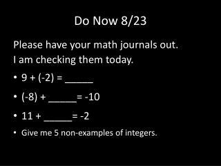 Do Now 8/23