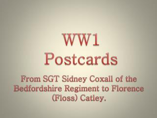WW1 Postcards