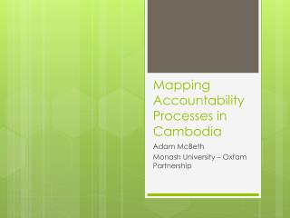 Mapping Accountability Processes in Cambodia