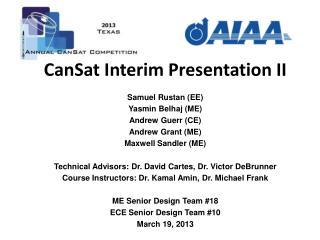 CanSat Interim Presentation II