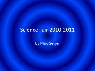Science Fair 2010-2011