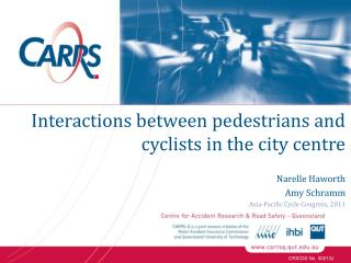 Narelle Haworth Amy Schramm Asia-Pacific Cycle Congress, 2011