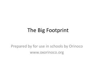 The Big Footprint