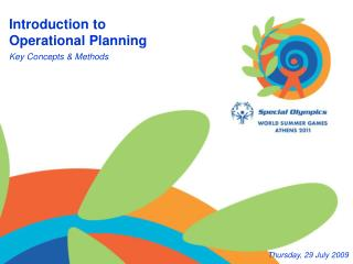 Introduction to  Operational Planning