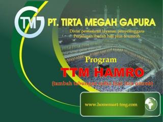 Program TTM HAMRO (tambah tabungan mitra haji dan umroh)