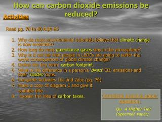 How can carbon dioxide emissions be reduced?