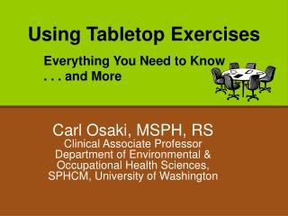 Using Tabletop Exercises