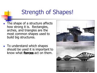 Strength of Shapes!