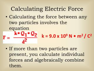 Calculating Electric Force