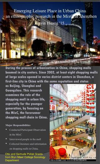 Emerging Leisure Place in Urban China - an ethnographic research in the MixC in  Shenzhen
