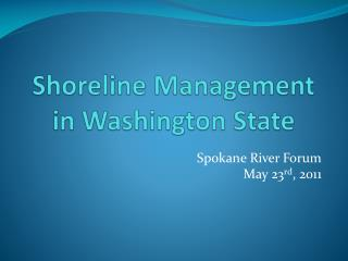 Shoreline Management in Washington State