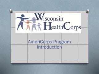 AmeriCorps Program Introduction