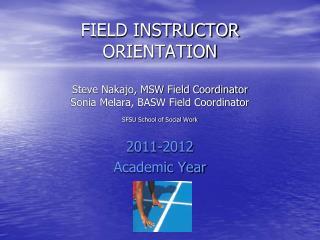 2011-2012 Academic Year