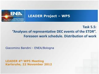 LEADER  Project – WP5