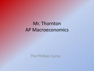 Mr. Thornton AP Macroeconomics