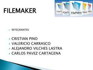 INTEGRANTES CRISTIAN PINO VALERICIO CARRASCO ALEJANDRO VILCHES LASTRA CARLOS PAVEZ CARTAGENA