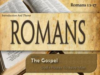 Romans 1:1-17