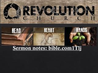 Sermon notes:  bible1Tlj