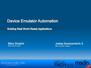 Device Emulator Automation Building Real World-Ready Applications